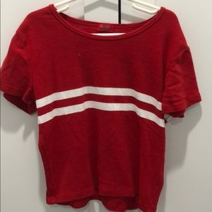 Brandy Melville Red Stripped Tee